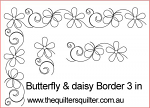 Butterfly & Daisy Border 3 in