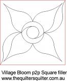 Village Bloom p2p square filler