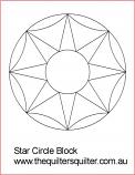 Star Circle Block