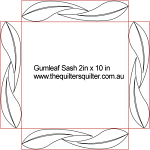 Gumleaf Sashing 2in x 10 in
